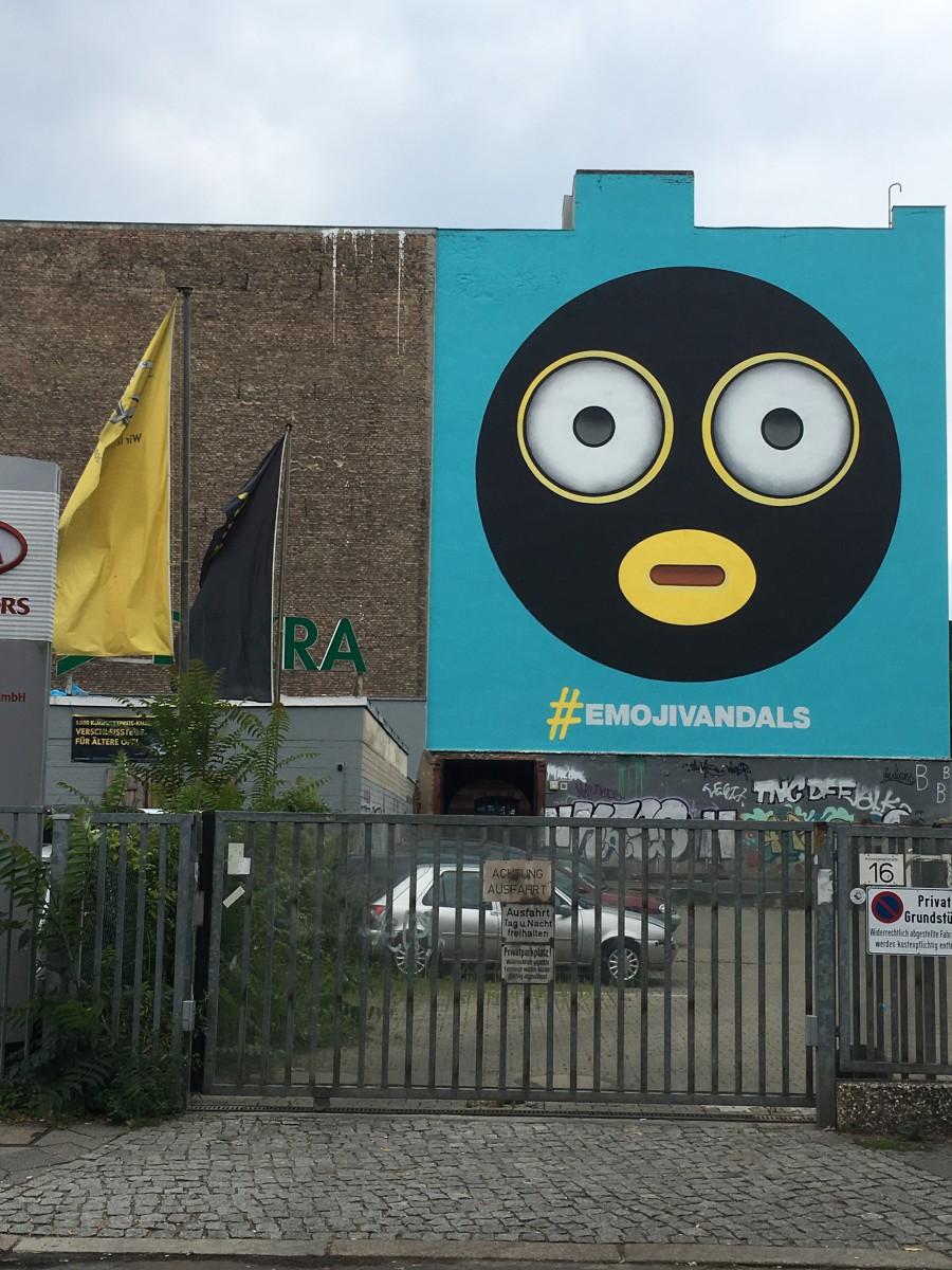 Mural von Graffitikünstlern am Berliner Moritzplatz