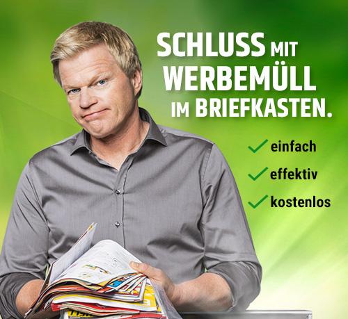 Werbestopper Werbung mit Oliver Kahn