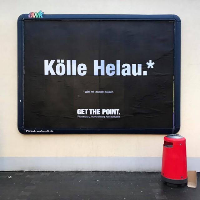 Get the Point Plakat: Kölle Helau