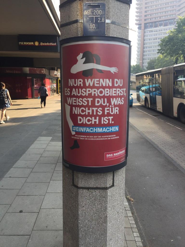 Das Handwerk hat eine neue Plakatkampagne gestartet: #einfachmachen