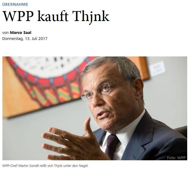 Horizont-Schlagzeile: WPP kauft Thjnk