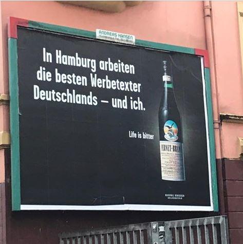 Fernet-Branca Plakat in Hamburg