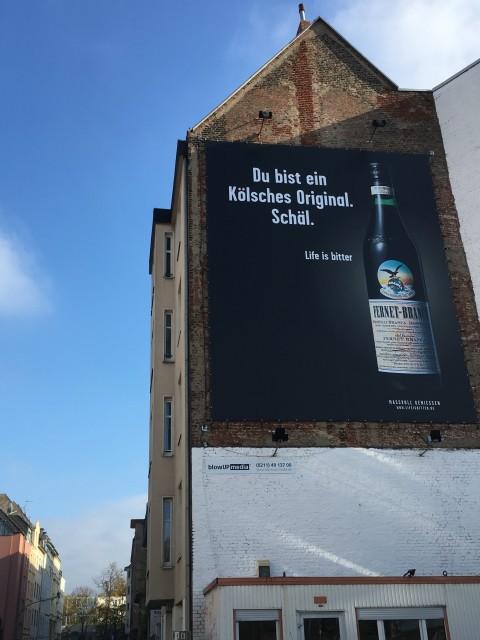 Fernet-Branca Plakat in Köln